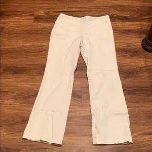 Ann Taylor Loft cream colored trousers